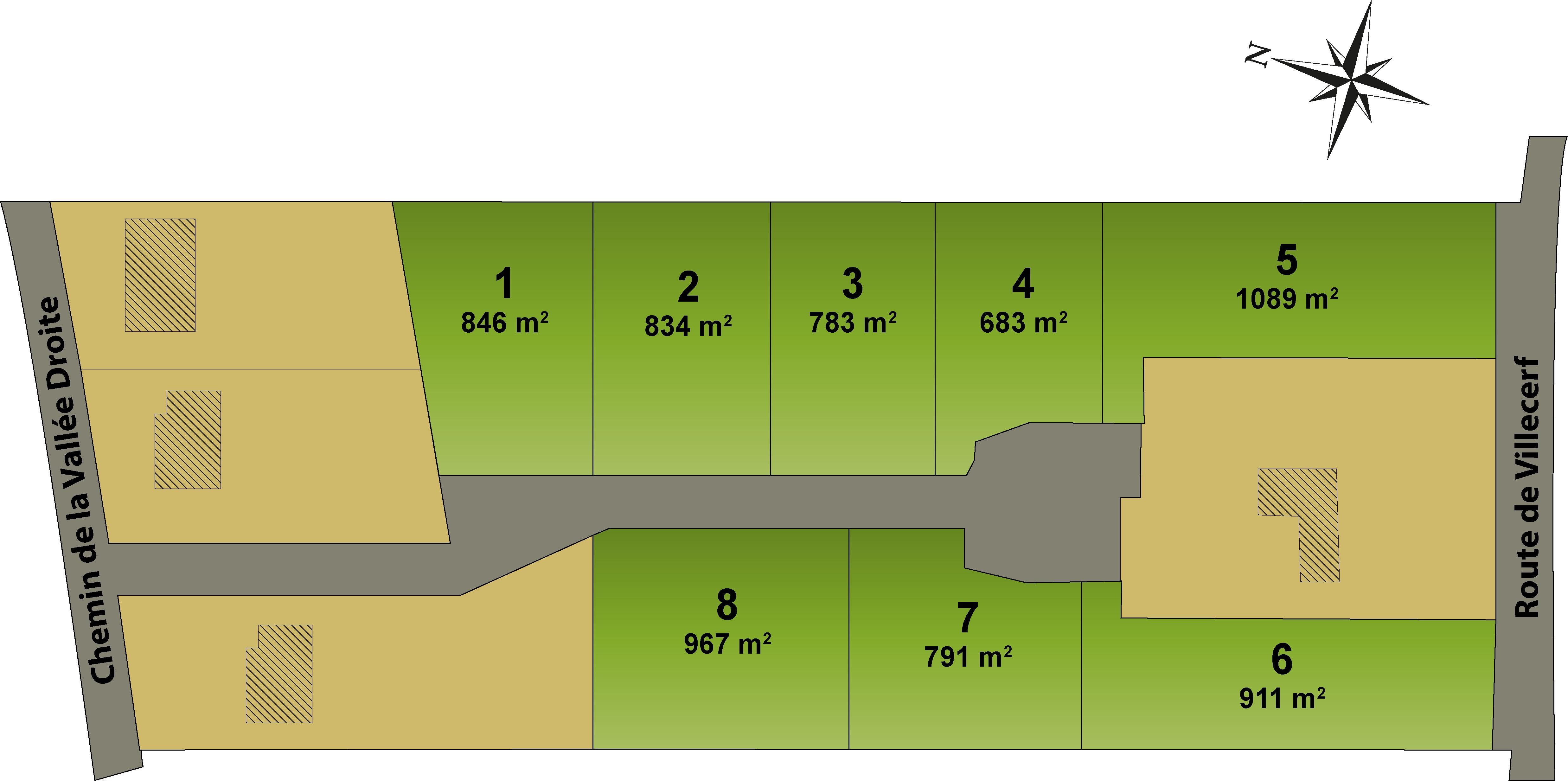 Plan du lotissement